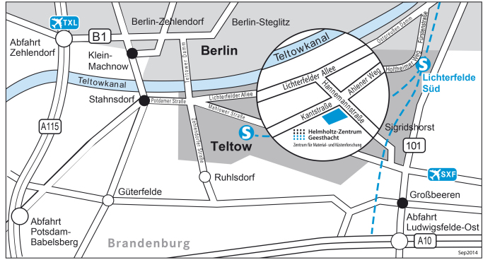 Location Map Teltow